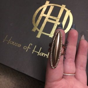 House of Harlow 1960 Geodesic Oval Ring